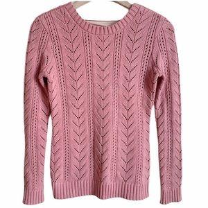 Tularosa Knit Sweater Lace Up Pink Size XXS